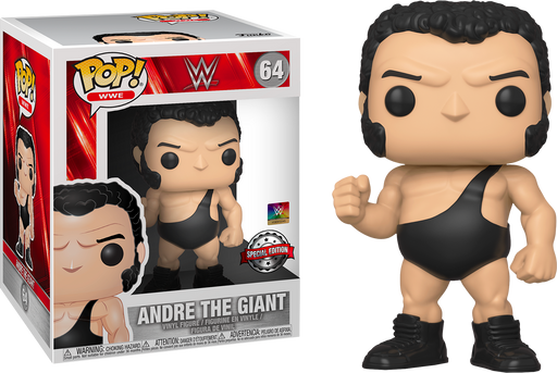 "Funko Pop! 6"" WWE Andre The Giant & Hulk Hogan Exclusive Vinyl Figure Set - Characters Co"