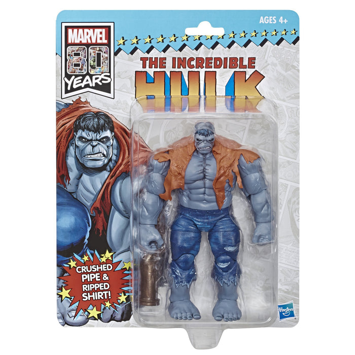 "Marvel Legends 80th Anniversary Exclusive 10"" The Incredible Hulk Grey Action Figure - Characters Co"