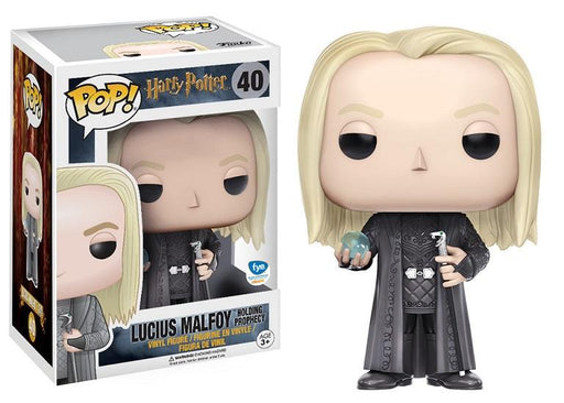 Funko Pop! Harry Potter: Lucius Malfoy Holding Prophecy FYE Exclusive Vinyl Figure - Characters Co