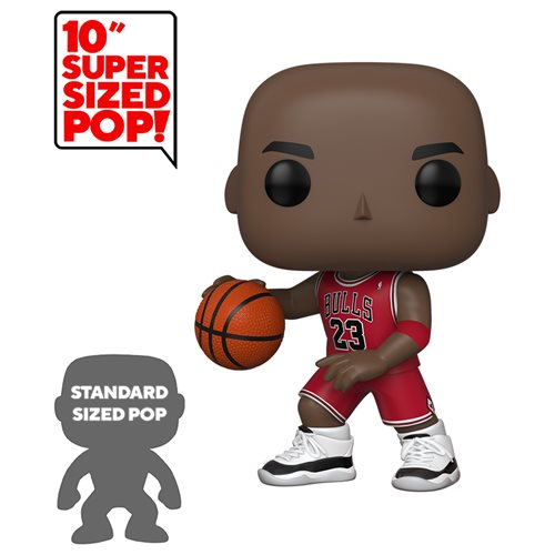 "10"" Michael Jordan Funko Pop! NBA Chicago Bulls Exclusive Vinyl Figure (Pre-Order) - CharactersCo.com"