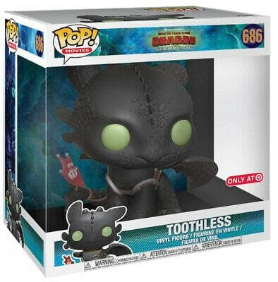 "10"" Toothless Funko Pop! How To Train Your Dragon Target Exclusive Vinyl Figure - CharactersCo.com"