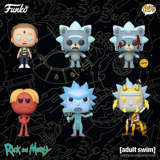 Set of 6 NEW with Chase Funko Pop! Rick and Morty Animation Vinyl Figures (Pre-Order) - Characters Co
