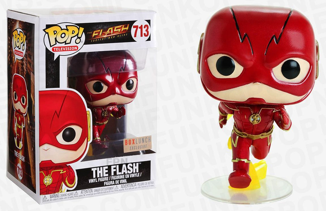 Funko Pop! Marvel Tees - The Flash Metallic Exclusive w/T-Shirt Vinyl Figure Box Set - Characters Co