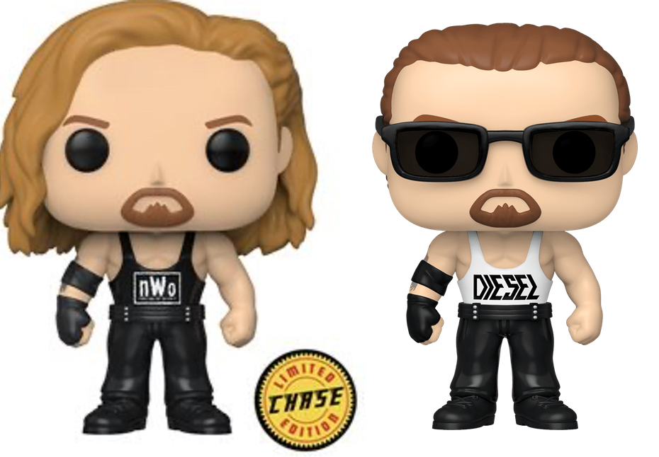 Complete Set of 7 WWE Funko Pop! Chase & Regulars Vinyl Figures - CharactersCo.com