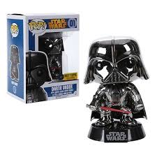 Funko Pop! Star Wars - Darth Vader Metallic Chrome Hot Topic Exclusive Vinyl Figure - Characters Co