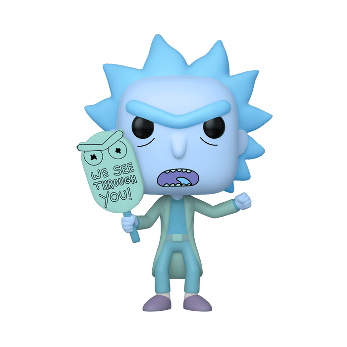 Glow in the Dark Hologram Rick Funko Pop! Exclusive Rick and Morty Animation Vinyl Figure - Characters Co