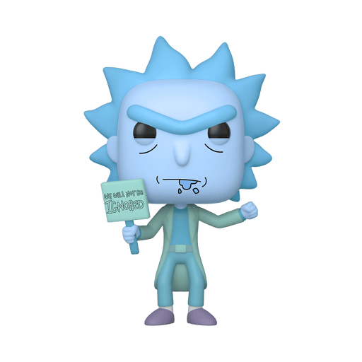Protester Hologram Rick Funko Pop! Exclusive Rick and Morty Animation Vinyl Figure - Characters Co