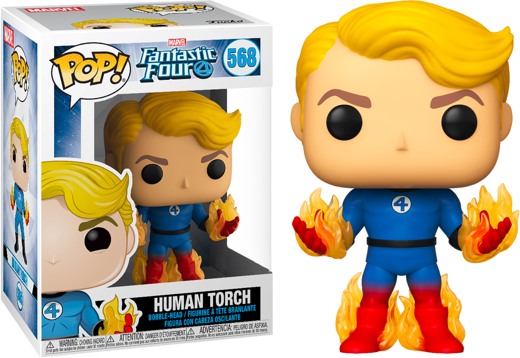 Funko Pop! Marvel Fantastic Four Human Torch Exclusive Vinyl Figure - Characters Co