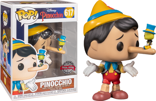 Funko Pop! Disney - Pinocchio With Jiminy Cricket Exclusive Vinyl Figure (Pre-Order) - Characters Co