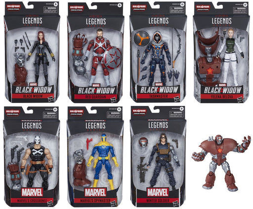 "Marvel Legends Black Widow Complete Set of 7 6"" Scale Collectible Action Figures - Characters Co"