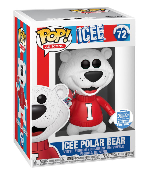 Funko Pop! AD Icons Icee Polar Bear Christmas Exclusive Vinyl Figure - Characters Co