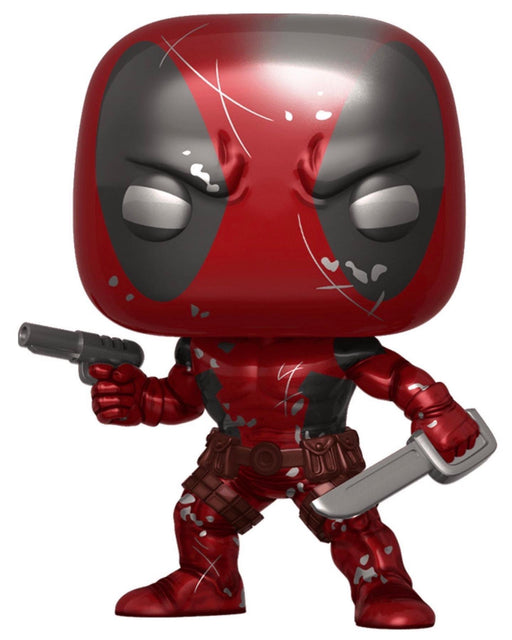 Funko Pop! Marvel Deadpool Metallic Battle Damaged 80th Anniversary Exclusive Vinyl Figure - Characters Co