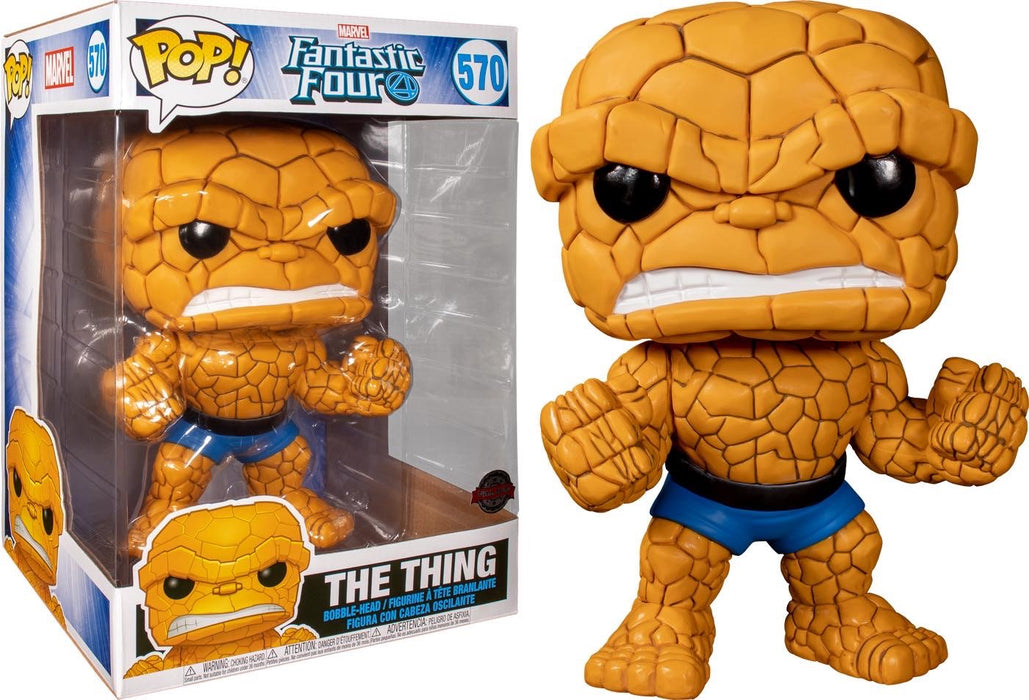 "Funko Pop! Marvel 10"" Fantastic Four The Thing Exclusive Vinyl Figure (Pre-Order) - Characters Co"