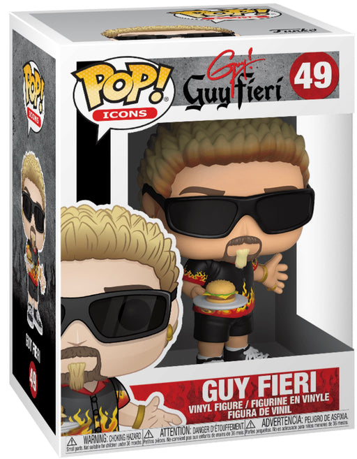 Funko Pop! Icons Guy Fieri (Dinners Drive-Ins & Dives) Vinyl Figure (Pre-Order) - Characters Co