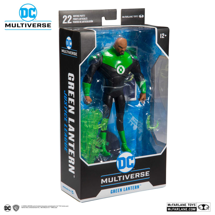 "McFarlane DC Multiverse Green Lantern John Stewart Justice League 7"" Collectible Action Figure - Characters Co"
