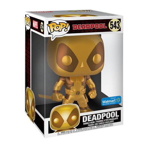"Funko Pop! Marvel 10"" Deadpool Gold 1:30 Chase Exclusive Vinyl Figure - Characters Co"