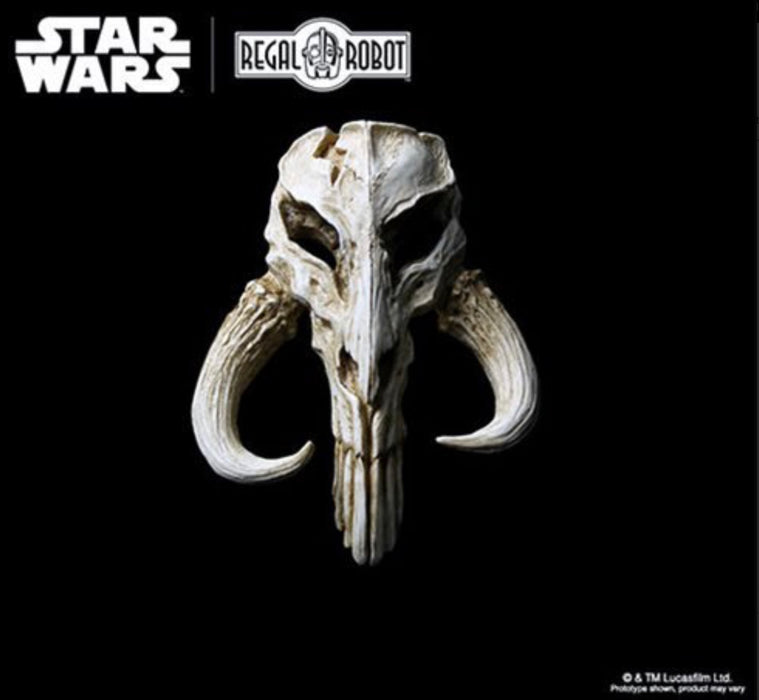 Star Wars The Mandalorian Skull 4 1/2-Inch Mini-Sculpture by Regal Robot - Characters Co