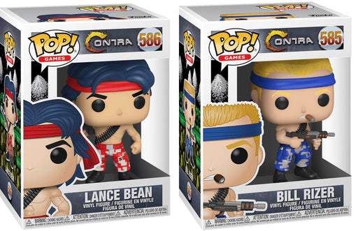 Funko Pop! Games Contra - Complete Set of 2 Lance Bean & Bill Rizer Vinyl Figures - Characters Co