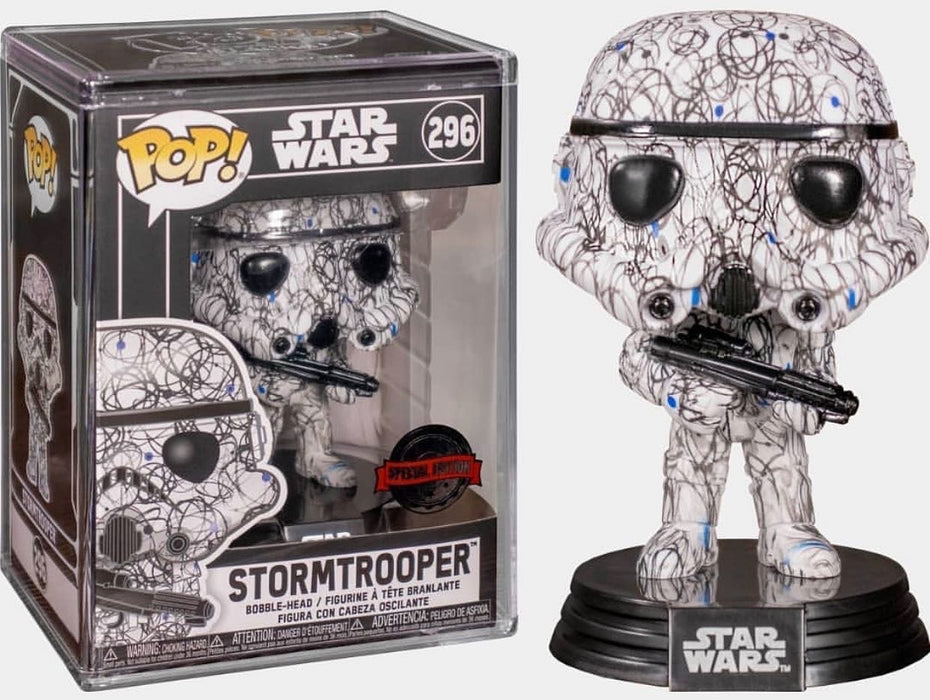 Funko Pop! Star Wars Futura Collection Stormtrooper Vinyl Figure w/Pop! Stack (Pre-Order) - Characters Co