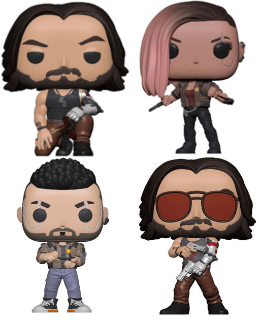 Funko Pop! Games - Cyberpunk 2077 Complete Set of 4 Vinyl Figure Set (Pre-Order) - Characters Co