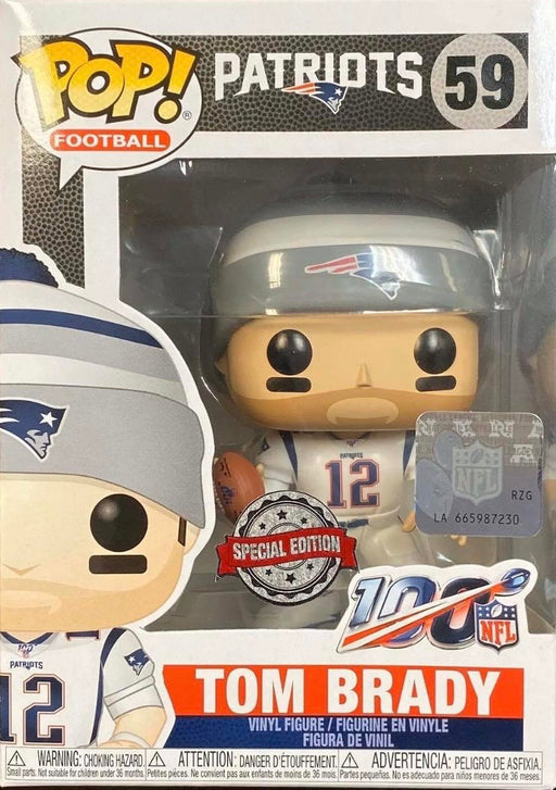 Tom Brady Funko Pop! NFL Exclusive Color Rush 2019 Vinyl Figure - Characters Co