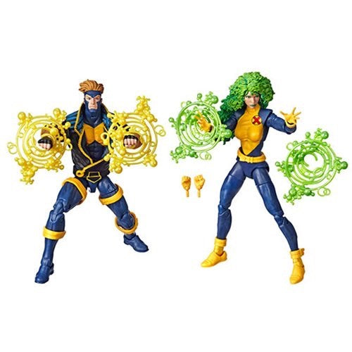 Marvel Legends 80th Anniversary X-Men Collection - Polaris & Havok 90s Exclusive Action Figure Set - Characters Co