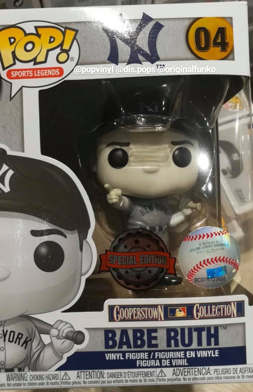 Funko Pop! Sports Legends - Babe Ruth Black & White Exclusive Vinyl Figure (Pre-Order) - Characters Co