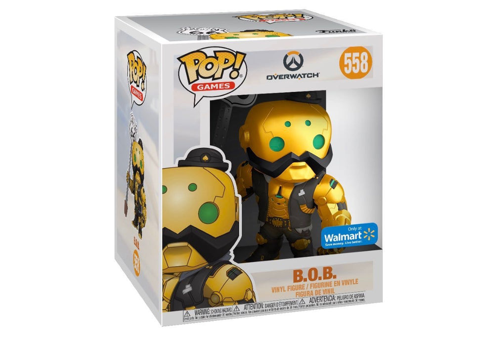 Funko Pop Games! Overwatch - B.O.B. Exclusive 6-Inch Supersize Vinyl Figure - CharactersCo.com