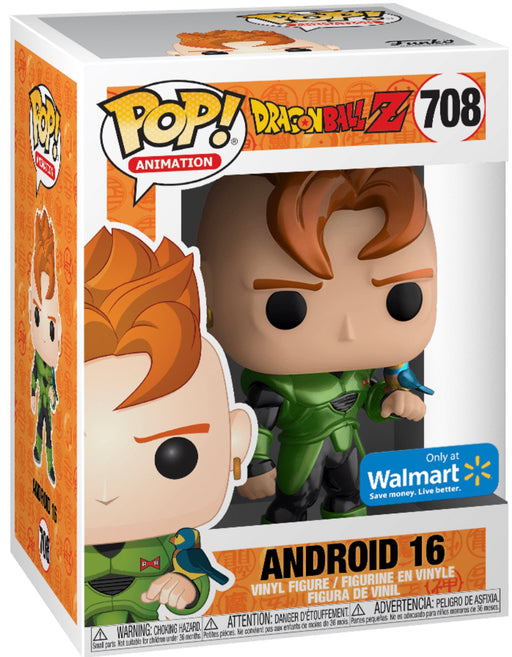 Funko Pop! Animation Dragonball Z Android 16 Metallic Exclusive Vinyl Figure (Pre-Order) - CharactersCo.com