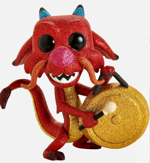 Funko Pop! Disney Mulan - Mushu With Gong Exclusive Diamond Collection Vinyl Figure (Pre-Order) - Characters Co