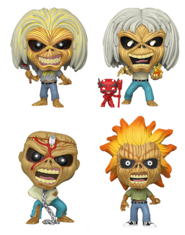 Funko Pop! Rocks Iron Maiden Complete Set of 4 Vinyl Figures (Pre-Order Ships Quarter 1 2020) - Characters Co