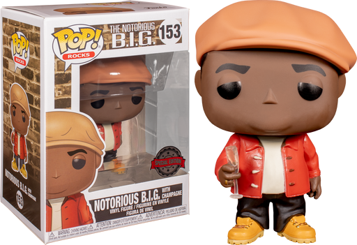Funko Pop! Rocks The Notorious BIG Exclusive With Champagne  Vinyl Figure (Pre-Order) - Characters Co