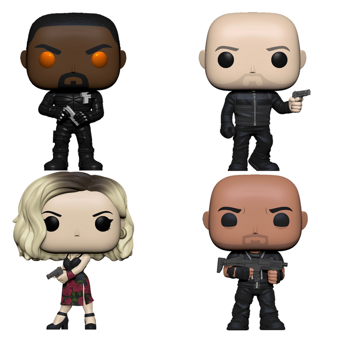 Funko Pop! Movies Hobbs & Shaw - Complete Set of 4 Vinyl Figures (Pre-Order) - Characters Co