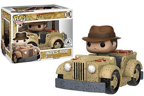 Funko Pop! Movies Rides: Indiana Jones Disney Parks Exclusive (Sub-Standard Packaging) - Characters Co