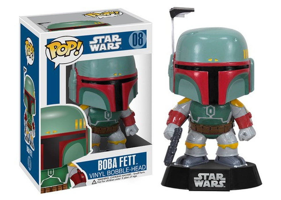 Funko Pop! Star Wars - Boba Fett Vaulted Blue Box Vinyl Figure - Characters Co