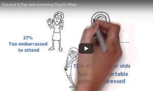 A Smear Test Can Save Your Life - don't delay. Dignity Wear have got you covered.