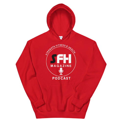 SFH Podcast Unisex Hoodie (Red, Design 2)