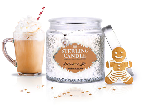 Gingerbread Latte Necklace Candle Charmed Aroma Sterling Candle Jewelry Inside