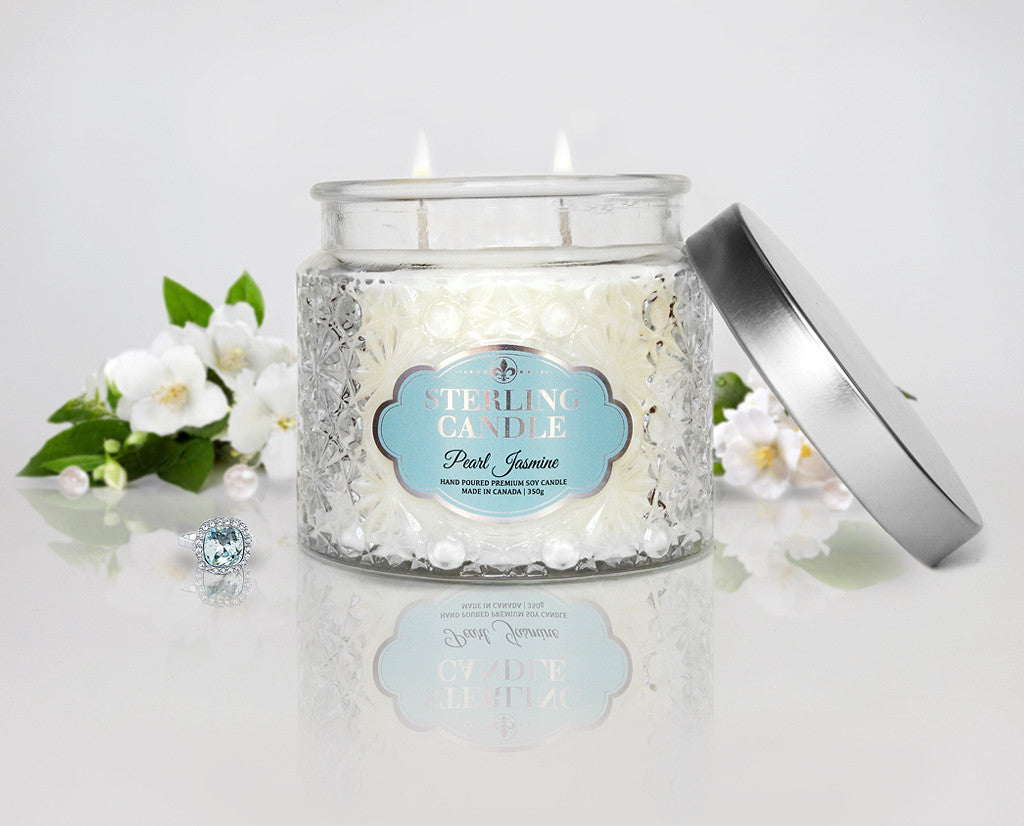 Jasmine Ring Candle Charmed Aroma Sterling Candle Jewelry Inside