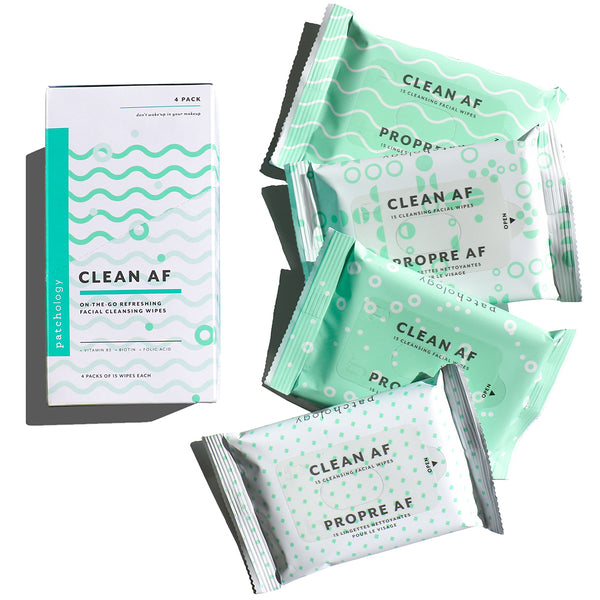 Clean AF Facial Cleansing Wipes (4 Pack)