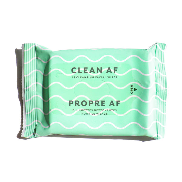 Clean AF Facial Cleansing Wipes: Single