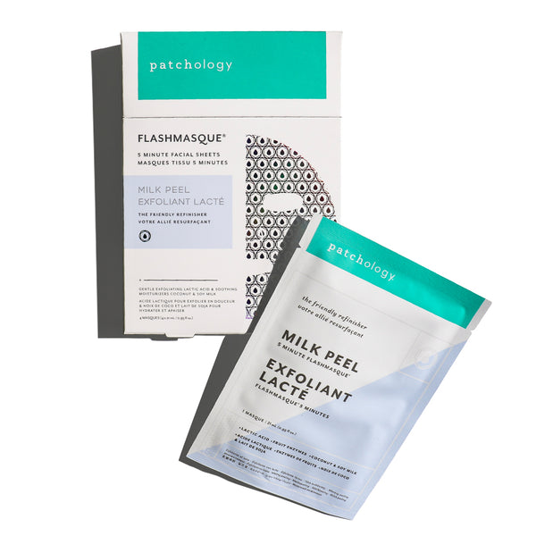 FlashMasque® Milk Peel 5 Minute Sheet Masks: 4 Pack