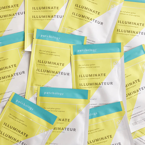 FlashMasque® Illuminate 5 Minute Sheet Masks: 4 Pack