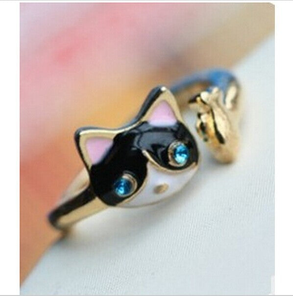 Lovely Cute Personality Kittens Cat Ring