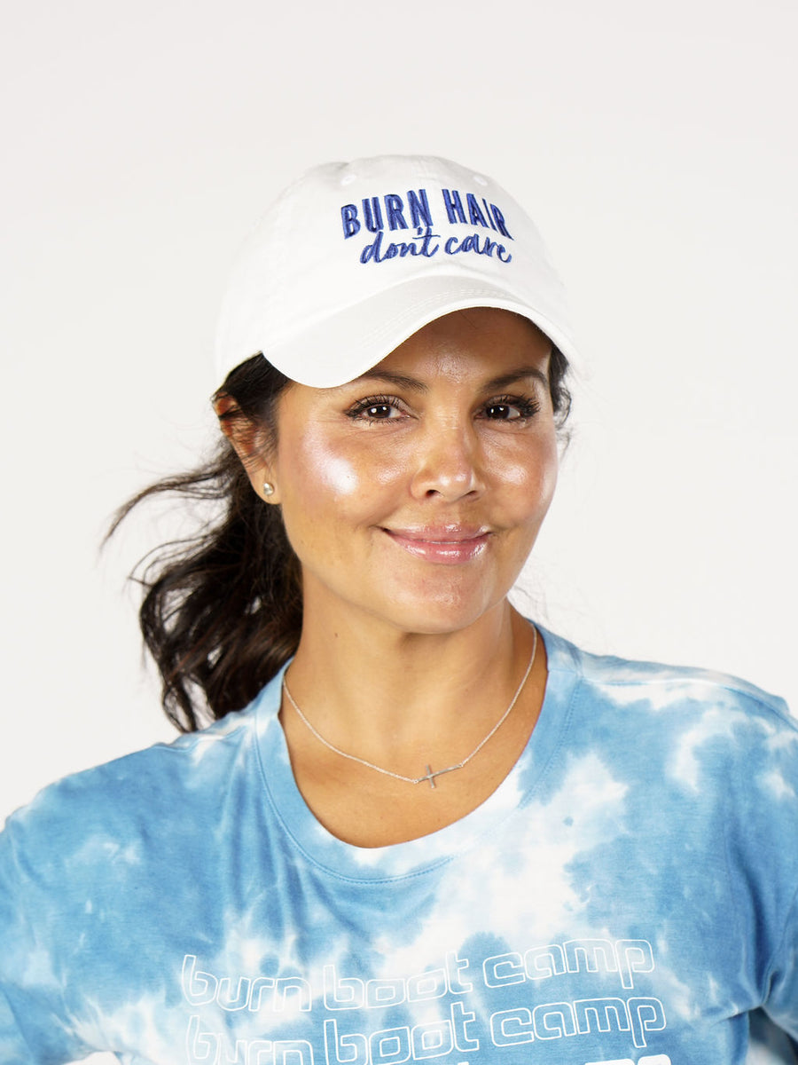 Burn Hair Don't Care Hat - White