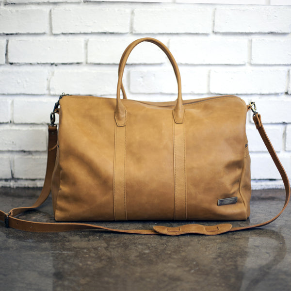 Leather Weekender by Taylor Covington