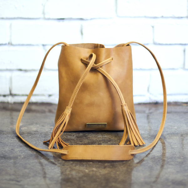 Leather Bucket Bag by Taylor Covington