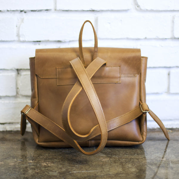 Mini Leather Backpack by Taylor Covington