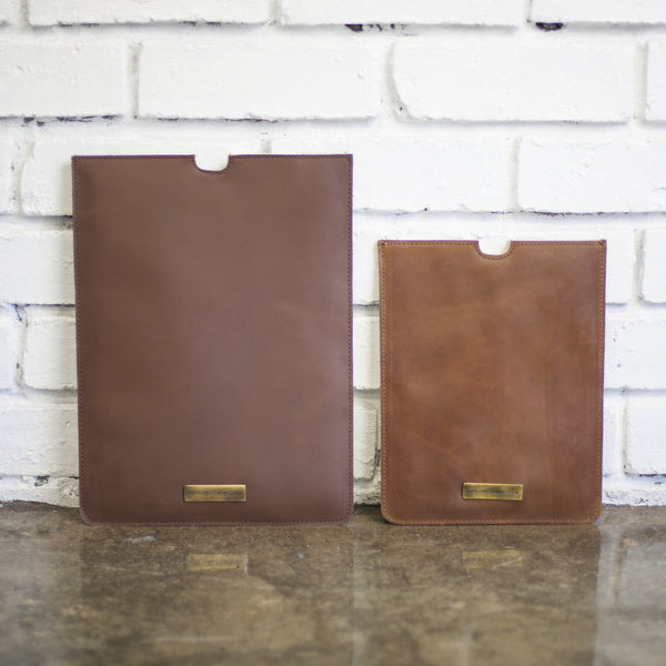 Leather Laptop/iPad Sleeve by Taylor Covington