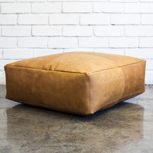 Classic Leather Pouffe